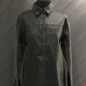 Black PU Shirt