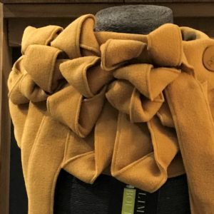 Luxury handmade mustard collar